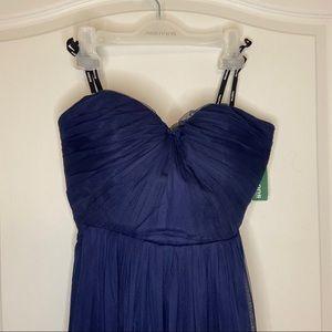 Soieblu strapless evening navy dress